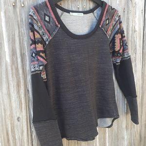 Maurice's sz. S, lightweight sweatshirt, aztec